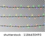 christmas lights string vector... | Shutterstock .eps vector #1186650493