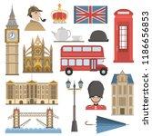 London Color Flat Icons Set