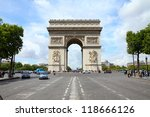 paris  france   famous... | Shutterstock . vector #118666126