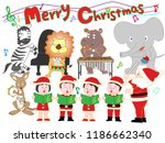 christmas concert with... | Shutterstock .eps vector #1186662340