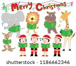 christmas concert with... | Shutterstock .eps vector #1186662346
