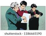 stock illustration. worried man ... | Shutterstock .eps vector #1186665190