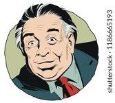 stock illustration. portrait... | Shutterstock .eps vector #1186665193