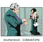 stock illustration. worried man ... | Shutterstock .eps vector #1186665196