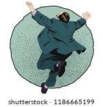 stock illustration. businessman ... | Shutterstock .eps vector #1186665199