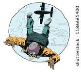 stock illustration. paratrooper ... | Shutterstock .eps vector #1186665400