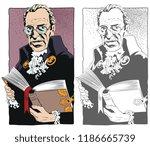 stock illustration. elderly man ... | Shutterstock .eps vector #1186665739