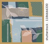 luxury art pattern for scarf... | Shutterstock .eps vector #1186666330