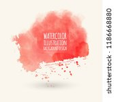 abstract bright pink watercolor ... | Shutterstock .eps vector #1186668880