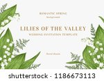 vector card with spring flowers.... | Shutterstock .eps vector #1186673113