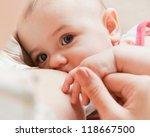 mother care. breast feeding... | Shutterstock . vector #118667500