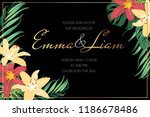 wedding invitation landscape... | Shutterstock .eps vector #1186678486