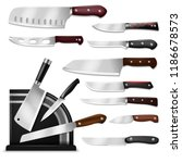 knives vector butcher meat... | Shutterstock .eps vector #1186678573