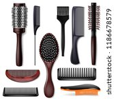 hair brush vector hairstyling... | Shutterstock .eps vector #1186678579