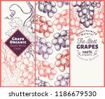 set of three grape banners.... | Shutterstock .eps vector #1186679530