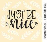 feminism hand drawn typography... | Shutterstock .eps vector #1186681153