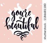 feminism hand drawn typography... | Shutterstock .eps vector #1186681180