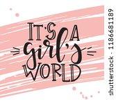 feminism hand drawn typography... | Shutterstock .eps vector #1186681189