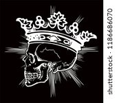 skull with a vector crown for... | Shutterstock .eps vector #1186686070