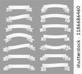 big set of white ribbons | Shutterstock .eps vector #1186686460