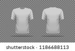 gray t shirt template vector ... | Shutterstock .eps vector #1186688113