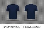 navy blue t shirt template... | Shutterstock .eps vector #1186688230