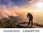 the photographer takes a photo... | Shutterstock . vector #1186689196