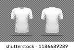 white t shirt template vector ... | Shutterstock .eps vector #1186689289