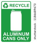 recycle vector sign   aluminum... | Shutterstock .eps vector #1186689673