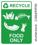 recycle vector sign   food only | Shutterstock .eps vector #1186690930