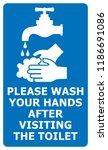 please wash your hands after...   Shutterstock .eps vector #1186691086