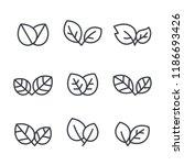 leaf icons  vector leaves logo... | Shutterstock .eps vector #1186693426