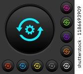 refresh settings dark push... | Shutterstock .eps vector #1186693909