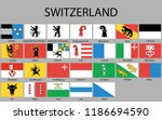 all flags of regions of... | Shutterstock .eps vector #1186694590