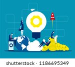 solution  business people and... | Shutterstock .eps vector #1186695349