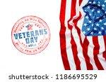 composite of veterans day flag | Shutterstock . vector #1186695529