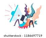 loudspeaker broadcasting of... | Shutterstock .eps vector #1186697719
