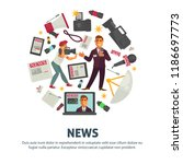 news people working in mass... | Shutterstock .eps vector #1186697773