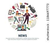 news people working in mass... | Shutterstock .eps vector #1186697773