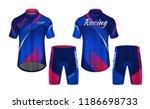 cycling jerseys mockup t shirt... | Shutterstock .eps vector #1186698733