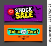 happy halloween sale colorful... | Shutterstock .eps vector #1186702423