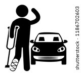 an injured passenger on a road... | Shutterstock .eps vector #1186702603