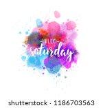 watercolor imitation splash... | Shutterstock .eps vector #1186703563