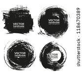 vector beautiful handmade black ... | Shutterstock .eps vector #118670389