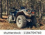 close up tail view of atv quad... | Shutterstock . vector #1186704760