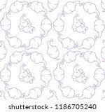 vector seamless simple pattern... | Shutterstock .eps vector #1186705240