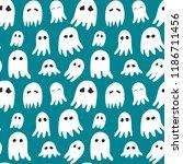 halloween pattern with cute... | Shutterstock .eps vector #1186711456