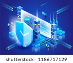 data security. network... | Shutterstock .eps vector #1186717129