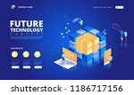 technology isometric concept.... | Shutterstock .eps vector #1186717156