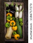 a set of freshly picked... | Shutterstock . vector #1186717273